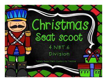 4.NBT.6 Christmas Seat Scoot Class Activity- Division