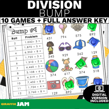 4.NBT.6 Division Activity or Game with No Prep for Math Centers
