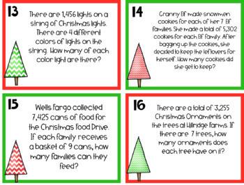 4.NBT.6 Division Christmas Task Cards