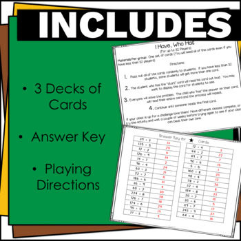 4.NBT.6 Division Math Games-I have, Who Has? Common Core Aligned!
