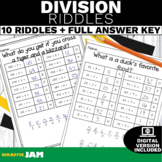 Division Riddles Game with No Prep for Math Centers
