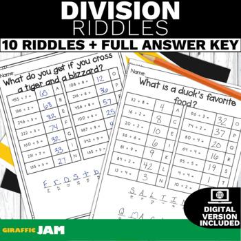 4.NBT.6 Division Riddles-Math Games! No Prep! Common Core