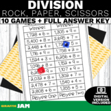 4.NBT.6 Division Math Games-Rock, Paper, Scissors! No Prep