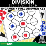 4.NBT.6 Tic Tac Toe Division Game with No Prep for Math Centers