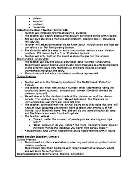 4.NBT.6 Lesson Plans (NC 4th Grade/Common Core)