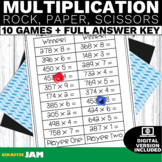 4.NBT.5 Multiplication Rock, Paper, Scissors Game with No Prep for Math Centers