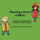 4.NBT.6  Planning A Picnic  #DollarDeals