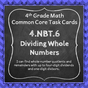 4.NBT.6 Task Cards - Dividing Whole Numbers (Fourth-Grade