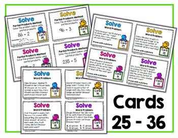 4.NBT.6 Task Cards: Division Dinosaurs