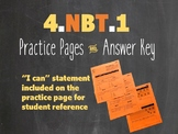 4.NBT.A.1 4th Grade Place Value Practice Pages Worksheets