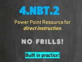 4.NBT.A.2 Expanded Form, Word Form, Unit Form, Standard Form and Comparing