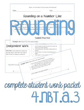 4.NBT.A.3 COMPLETE Student Work Packet - Day 1 Rounding