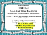 4.NBT.A.3  Rounding Word Problems Task Cards