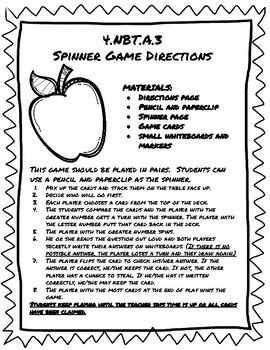 4.NBT.A.3 Spinner Game