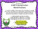 4.NBT.B.5  Single by Multiple Digit Multiplication Word Pr