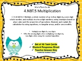 4.NBT.B.5  Standard Algorithm  Multiplication Task Cards
