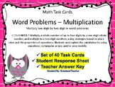 4.NBT.A.5 Two Digit by Two Digit Multiplication Word Problems Task Cards