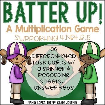 CCSS 4.NBT.B.5 Batter Up! A Multiplication Game