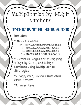 4.NBT.B.5: Multiplication by 1-Digit Numbers, Fourth Grade