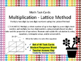 4.NBT.B.5 Two Digit by Two Digit Multiplication Lattice Me