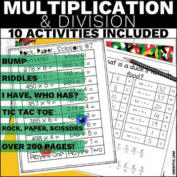 4.NBT.5 and 4.NBT.6 Mega Bundle Multiplication and Divisio