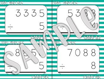 4.NBT.B.6 4-Digit Divided by 1-Digit Task Cards
