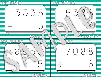 4.NBT.B.6 4-Digit Divided by 1-Digit Task Cards