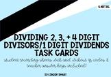 4.NBT.B.6 - Division Task Cards (2, 3, 4 Digit Dividends b