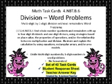 4.NBT.B.6 Division Word Problems (Multi-digit by One-digit