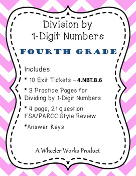 4.NBT.B.6: Division by 1-Digit Numbers, Fourth Grade, Exit