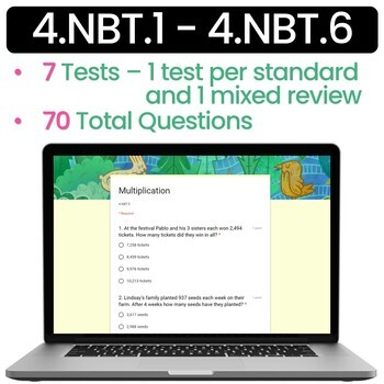 4.NBT Numbers and Operations Base Ten - Math Review - 4th Grade