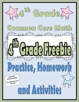 4.NBT and 4.NF Math Freebie 4th Grade Common Core Math