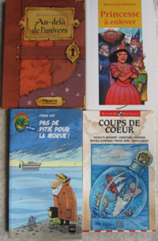 4 NEW FRENCH BOOKS Short stories Novel fairy tale princess+seal hunt (Incl ship)