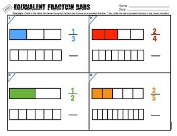 4.NF.1 Equivalent Fraction Bars