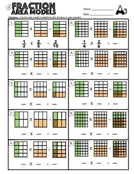 4.NF.1 Fraction Area Models