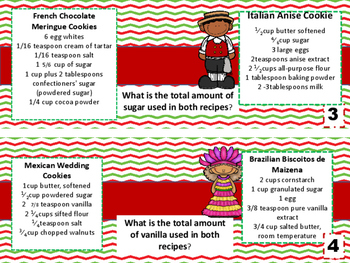 4.NF.1 International Cookie Task Cards