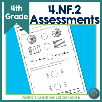 4.NF.2 Assessments Comparing Fractions