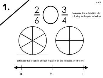4.NF.2 Compare Fractions w/Different Denominators