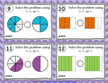 4.NF.2 Task Cards: Comparing Fractions Task Cards 4.NF.2: Compare Fractions