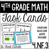 4.NF.3 4th Grade Math Task Cards (Adding and Subtracting F