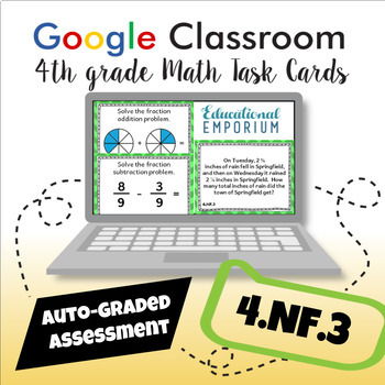 4.NF.3 Task Cards Digital: Add and Subtract Fractions