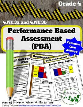 4.NF.3a and 4.NF.3b Performance Task