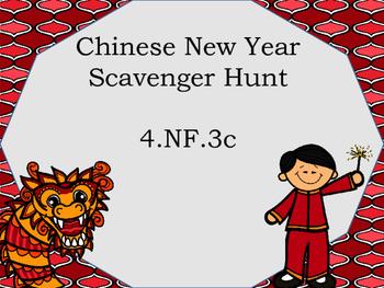 4.NF.3c Scavenger Hunt Global theme