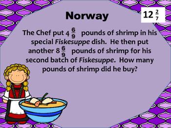 4.NF.3d Scavenger Hunt-word problems (Food Edition)