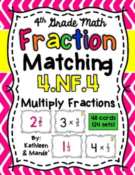4.NF.4 Matching Cards: Multiply Fractions