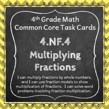 4.NF.4 Task Cards: Multiplying Fractions Task Cards 4.NF.4