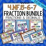 4.NF.5, 4.NF.6, & 4.NF.7 BUNDLE: Fractions & Decimals
