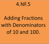 4.NF.5 Adding Fractions with Denominators of 10 and 100