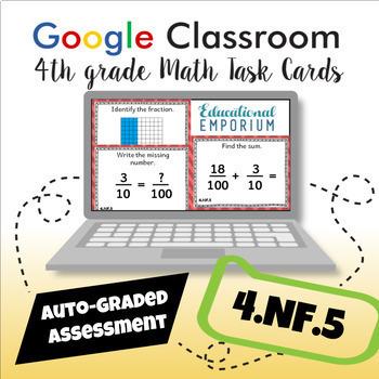 4.NF.5 Digital Task Cards: Add Tenths and Hundredths