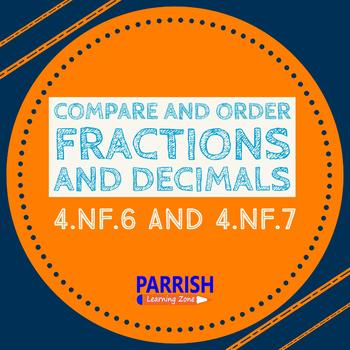 4.NF.6, & 4.NF.7 Lesson and Video: Compare and order fractions and decimals
